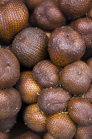 Closeup of the fresh salak snake fruit