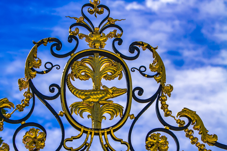 Ornamental gate of Les Jardins de La Fontaine in Nimes, France