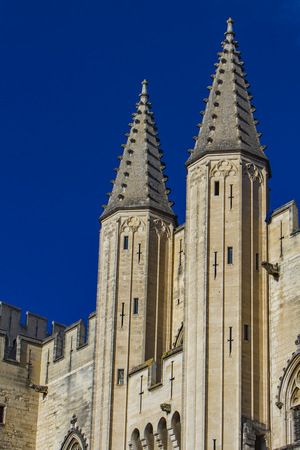 View at Palais des Papes in Avignon, France