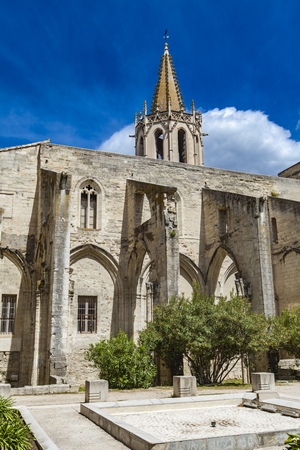 View at St Martial Temple in Avignon, France Stock Photo