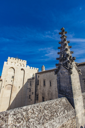 Roof top domes on the Palais Des Papes in Avignon, France