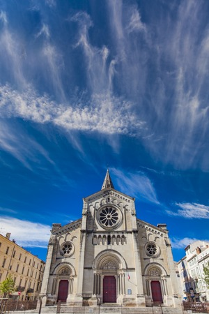 View at Eglise Saint Paul in Nimes, France Banco de Imagens