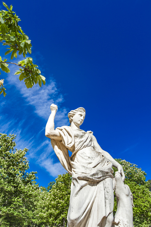 Statue of Diane from Les Jardins de La Fontaine in Nimes, France 스톡 콘텐츠