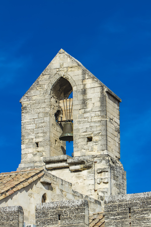 View at church bell tower in Popes Palace in Avignon, France