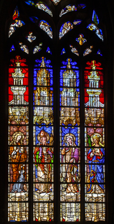 Stained glass window from Paroisse Cathedrale Saint Sauveur Aix-en-Provence in  France