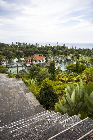 Detail from Tirta Gangga water palace at Bali, Indonesia Stok Fotoğraf
