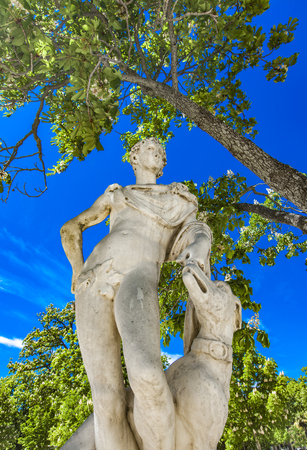 Statue of Endymion, Son of Zeus from Les Jardins de La Fontaine in Nimes, France