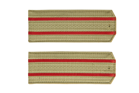 Soviet army officer shoulder strap isolated on the white background