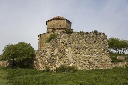 View at Jvari Orthodox monastery near Mtskheta in Georgia Editorial