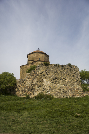View at Jvari Orthodox monastery near Mtskheta in Georgia Stock Photo