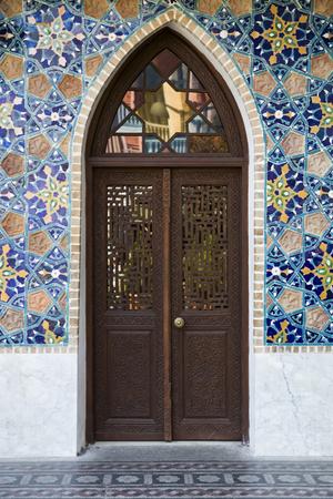 Detail of the Orbeliani sulphur baths building in Tbilisi, Georgia Stock Photo