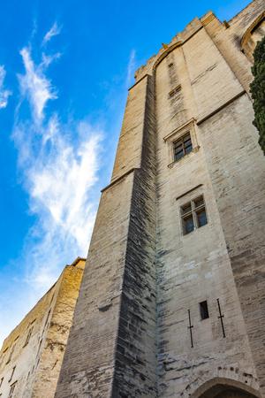 View at Palais des Papes in Avignon, France Stock Photo - 123848749