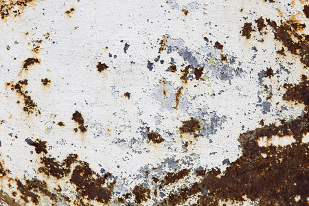 Detail of the abstract corroded colorful rusty metal background