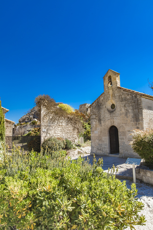 View at Chapelle Saint Blaise, an old church in Les Baux de Provence, France Reklamní fotografie