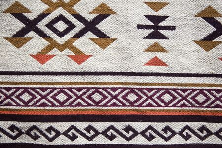 Detail of the traditional Georgian handmade carpet with typical geometrical pattern Фото со стока - 124567869