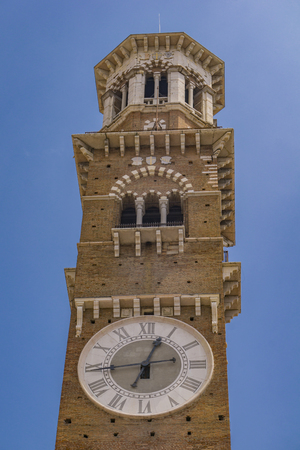 View at Torre dei Lamberti in Verona, Italy