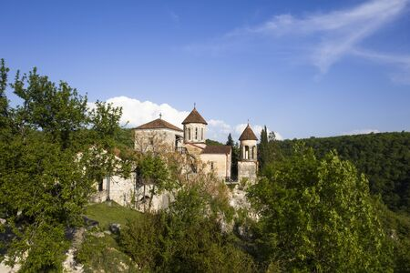 View at Motsameta Monastery near Kutaisi, Georgia