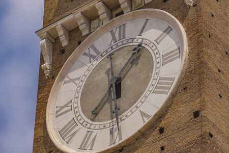 View at clock on Torre dei Lamberti in Verona, Italy