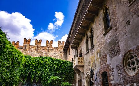 View at Juliet balcony in Verona, Italy, actually added to the building in the 1930s