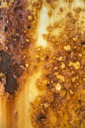 Detail of the dark worn rusty metal texture background Imagens