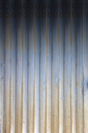 Siding metal vertical panels texture close up