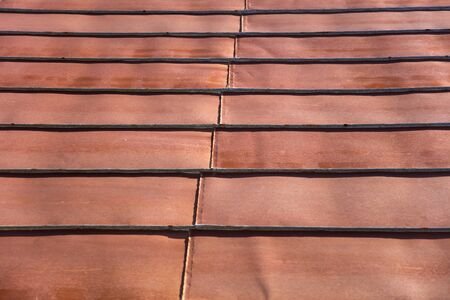 Detail of the roof rusty corrugated iron metal texture