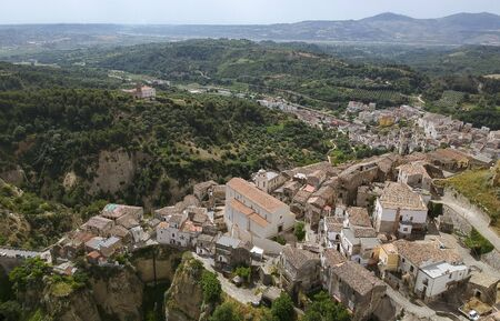 Panoramic view of old town Tursi in Basilicata region, Italy Banque d'images - 126440210