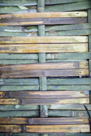 Detail of the old bamboo wall texture pattern background