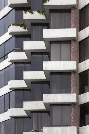 Closeup detail of the urban modern building Banco de Imagens