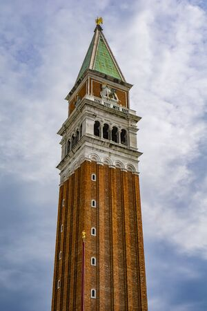 View at St Marks Campanile bell tower in Venice, Italy Stockfoto