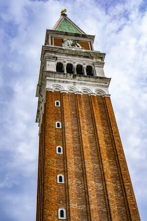 View at St Marks Campanile bell tower in Venice, Italy Stock Photo