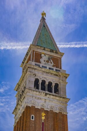 View at St Marks Campanile bell tower in Venice, Italy 写真素材
