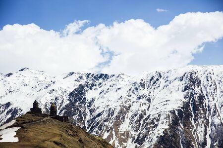 View at high latitude mountains at Mtskheta-Mtianeti region in Georgia Stok Fotoğraf