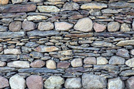 Close up view at gray cobblestone texture Reklamní fotografie