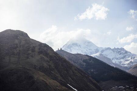 View at high latitude mountains at Mtskheta-Mtianeti region in Georgia 版權商用圖片