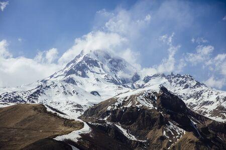 View at high latitude mountains at Mtskheta-Mtianeti region in Georgia Stock fotó