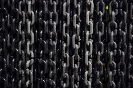 Closeup detail of the metal chains background