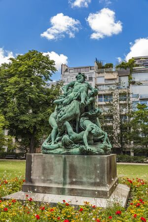 Le Triomphe de Silene statue at Luxembourg Gardens in Paris, France