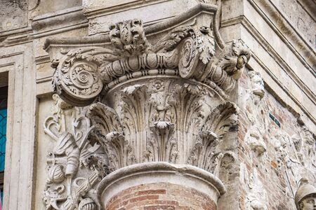 Detail from facade of Loggia del Capitaniato, designed by Andrea Palladio and built at 1572 Stock Photo