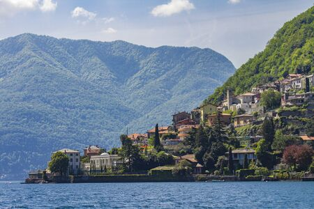 View at the town Torriggia on Como Lake in Italy