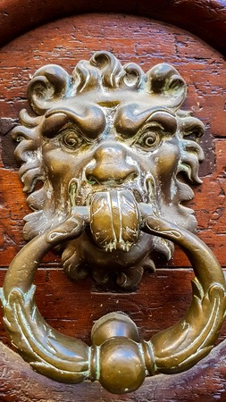 Closeup of the vintage door knob from Eix-en-Provence in France 報道画像