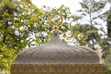 Closeup detail view at golden roof of Topkapi palace in Istanbul, Turkey 新聞圖片