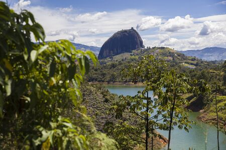 View at Rock of Guatape (Piedra Del Penol) in Colombia