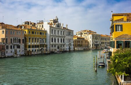View at boats in Canal Grande at Venice, Italy 版權商用圖片