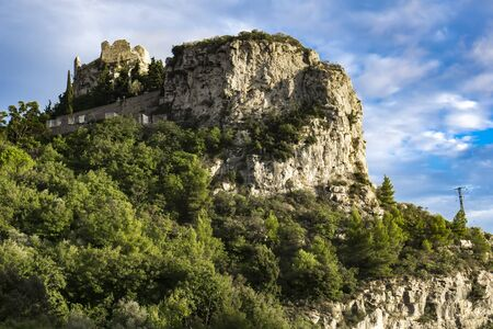 View at Danube river in the Iron Gates also known as Djerdap gorges in Serbia