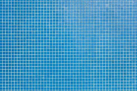 Closeup of the square pattern of blue tiles