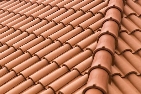 Closeup detail view of the roof tiles 写真素材