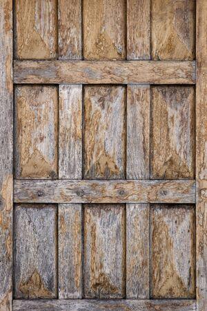 Closeup of the old vintage wooden door
