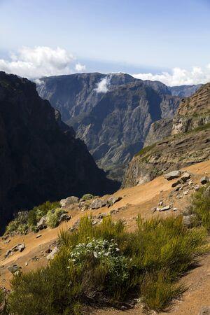 View at mountain peak Pico do Arieiro at Madeira island, Portugal Stock fotó