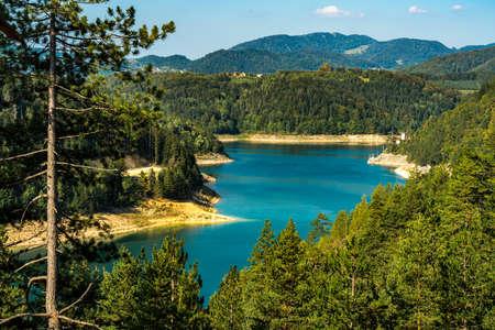 View at Zaovine lake in Serbia 写真素材